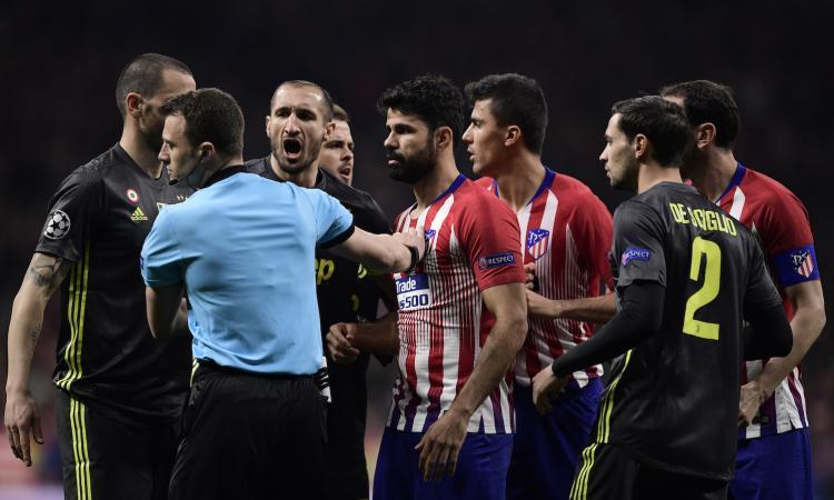 Atletico-Juve, rivivi la MOVIOLA: il Var toglie un rigore e un gol agli spagnoli