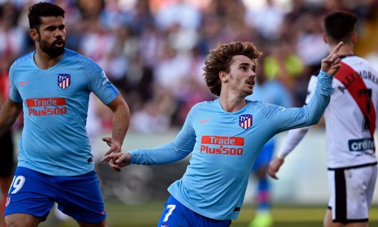 Griezmann+Oblak: l'Atletico risponde a fatica alla Juve, ma ritrova Diego Costa