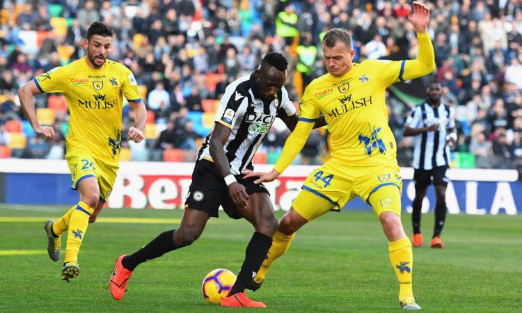 Udinese-Chievo 1-0: il tabellino