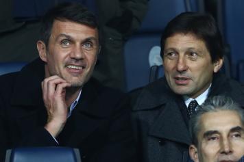 Maldini Leonardo tribuna Milan