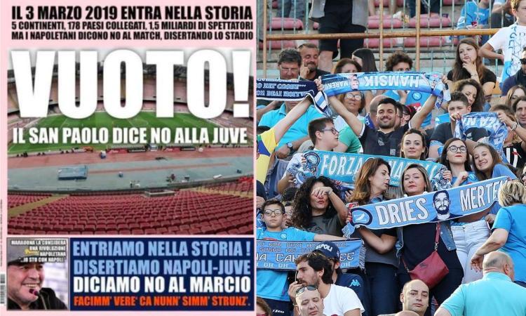 'Disertiamo il San Paolo': Napoli pronta alla clamorosa protesta anti-Juve