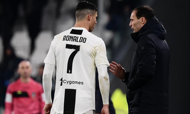 Juve, Allegri per Ronaldo deve allestire un 'corso' accelerato di umiltà
