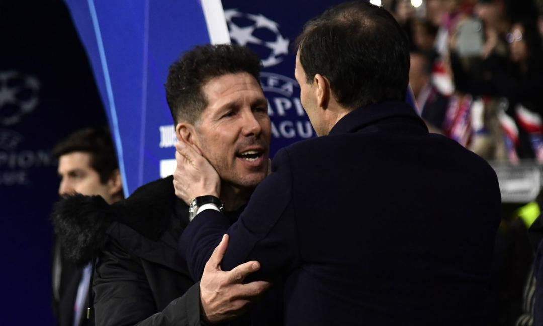 Juve-Atletico, Simeone: il comunicato dell'UEFA