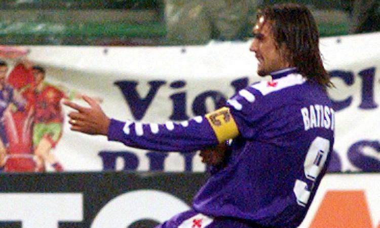 Fiorentina-Juve, la Viola ricorda il gol di Batistuta! VIDEO