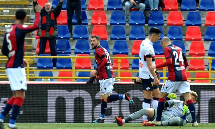 Bologna, pari col Genoa: ma la vittoria di Mihajlovic è avere ritrovato Destro
