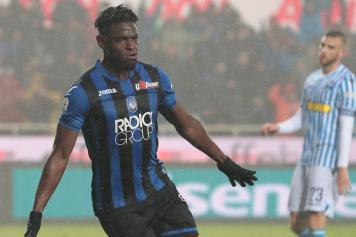 duvan zapata, atalanta, smorfia, gol, pioggia, 2018/19