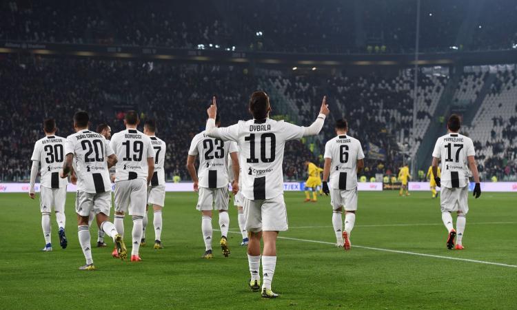 Juve, 3-0 al Frosinone: segnano Dybala e Ronaldo, Allegri a +14 sul Napoli