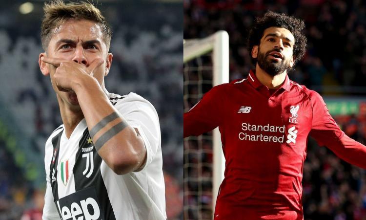 Dall'Inghilterra: la Juve vuole Salah e offre Dybala al Liverpool, i dettagli