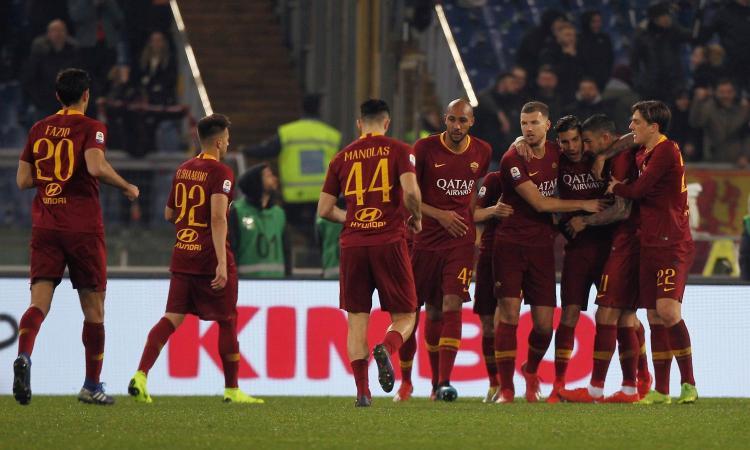 Olsen para, la difesa segna: una brutta Roma batte il Bologna, Milan a +1