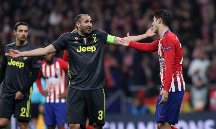 Ad Atletico: 'Juve sempre favorita, Chiellini ha ingannato gli arbitri'