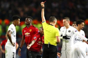 pogba, manchester united, espulso, psg, 2018/19