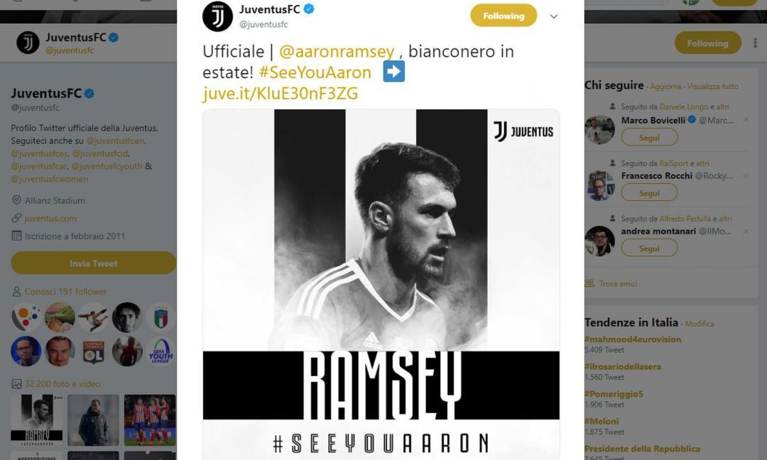 Juve, Ramsey per non fermarsi