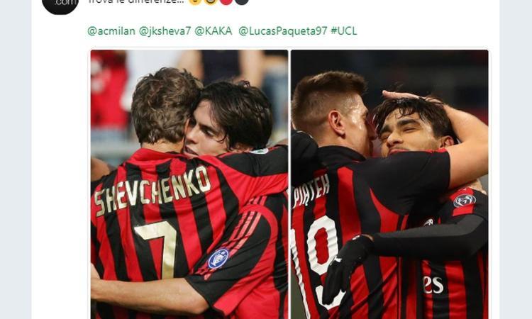 Milan, la Uefa paragona Sheva-Kakà a Piatek-Paquetá: 'Trova le differenze...'