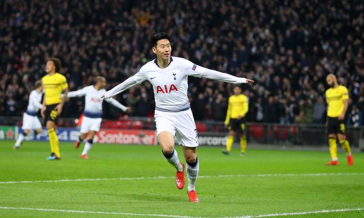 Il Dortmund dura solo un tempo, Son ispira il tris del Tottenham