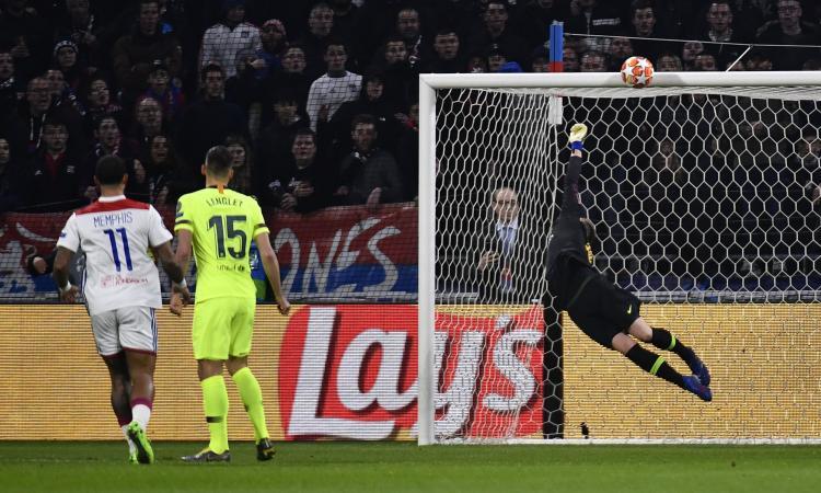 Champions League: nessuna rete e solo una traversa tra Lione e Barcellona