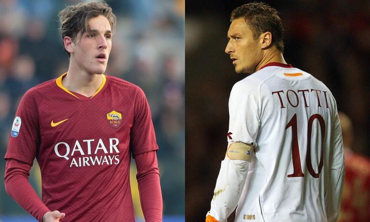 Roma, per la 10 a Zaniolo c'è tempo: lo scrive anche Totti nel suo libro...