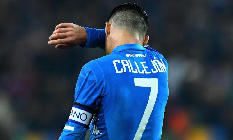 Napoli, Callejon verso la panchina con l'Udinese