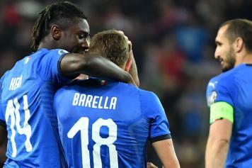 Kean Barella abbraccio Italia