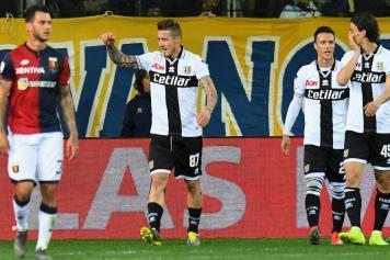 Kucka esultanza Parma pugno