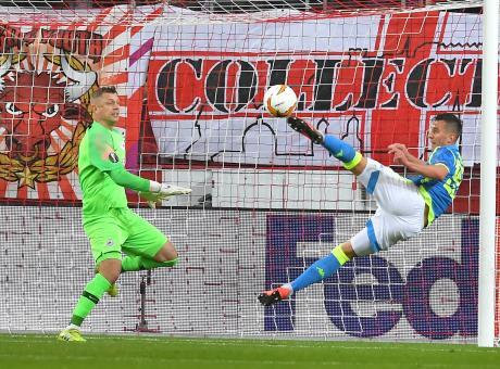 Il Napoli è ai quarti di finale di Europa League: al Salisburgo non basta il 3-1