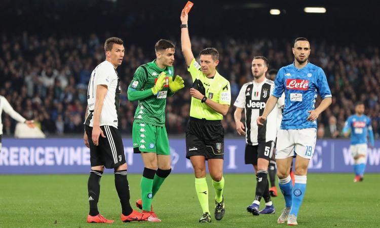 Chiesa a CM: 'Napoli-Juve, che Rocchi: voto 8. Giusto il rigore per la Lazio. Il rosso a Consigli e il Var in Spal-Samp...'