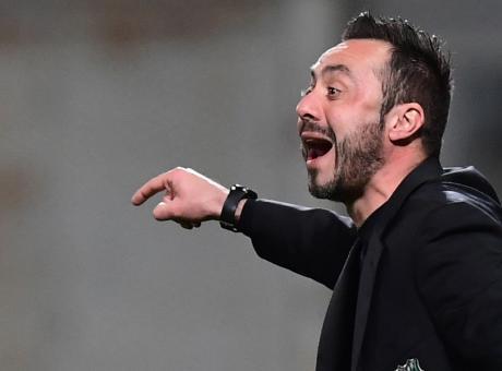 Sassuolo, De Zerbi: 'Subiti due gol con un tiro in porta, è andata così. Ripartiamo dalla prestazione'