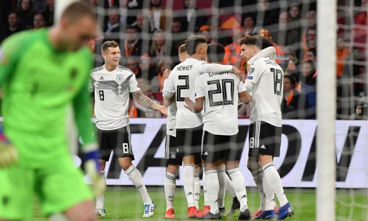 Olanda-Germania, un 2-3 show: de Ligt segna e sbaglia, decide Schulz al 90'