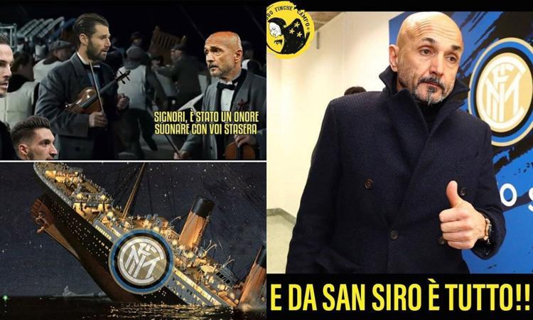 L'Inter eliminata dall'Europa affonda anche sul web: quanti sfottò FOTO