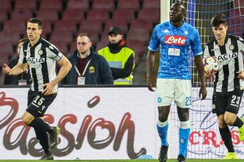 koulibaly, napoli, perplesso, lasagna, udinese, gol, pussetto, pallone, 2018/19