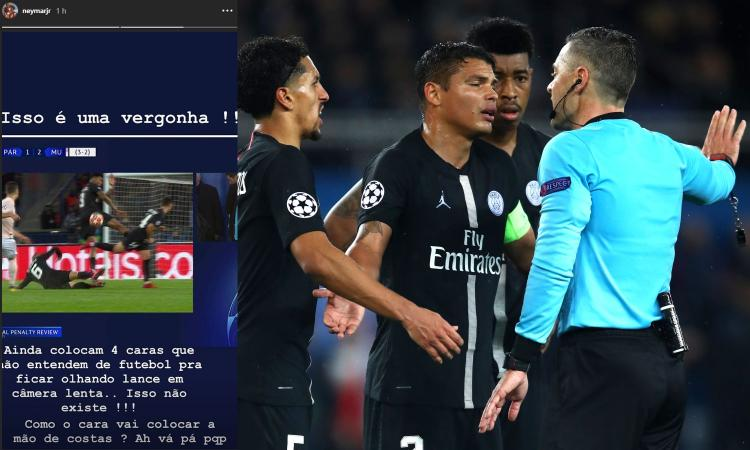 Psg-United, Neymar attacca il Var: 'E' una vergogna, vaff....o!'