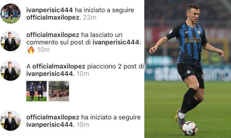 Perisic, sgarbo a Icardi dopo il derby: alleanza social con Maxi Lopez