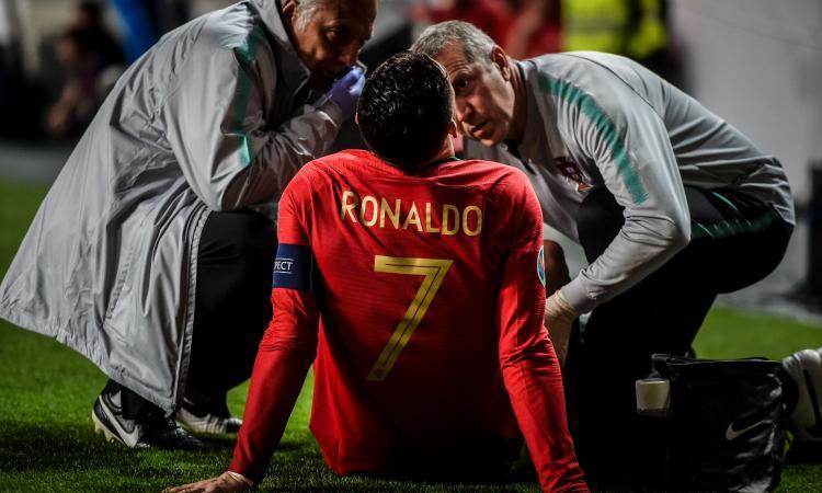 Juve in ansia: infortunio per Cristiano Ronaldo col Portogallo, Ajax a rischio