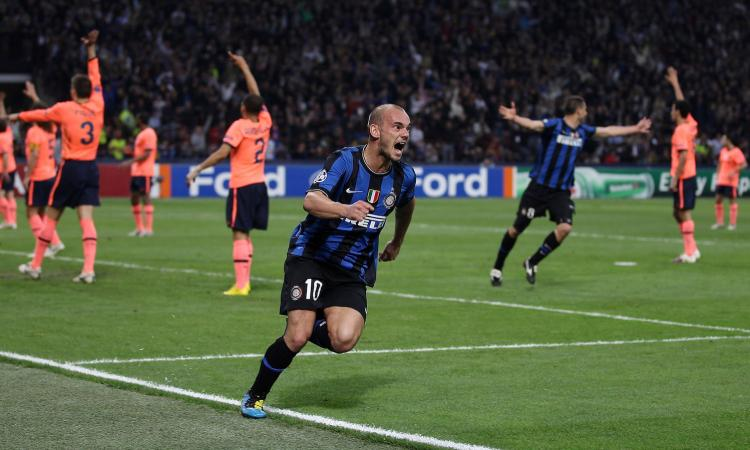 Inter, il saluto social a Sneijder