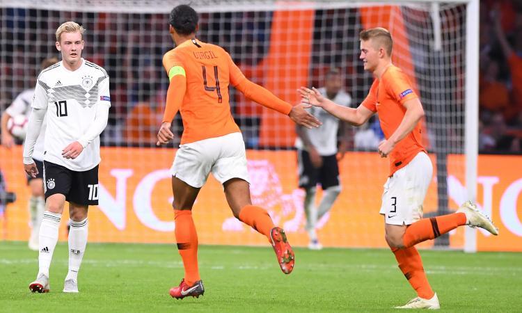 Olanda-Germania, formazioni ufficiali: ci sono de Ligt e Sané