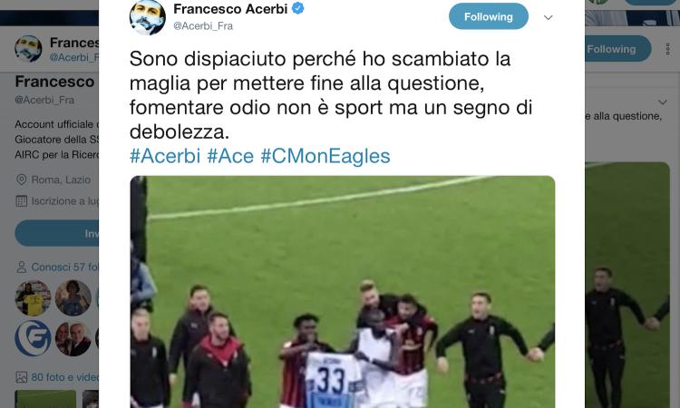 Kessie e Bakayoko, sfottò con la maglia contro Acerbi! Il difensore della Lazio: 'Fomentare odio è segno di debolezza'