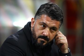 Gattuso Milan concentrato
