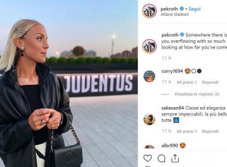 Juve, Petronella Ekroth è pazza dello Stadium FOTO