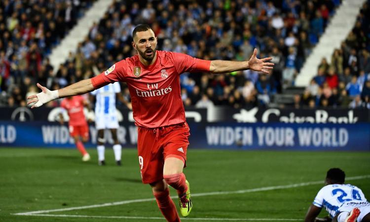 Liga: Benzema salva il Real Madrid, 1-1 contro il Leganes