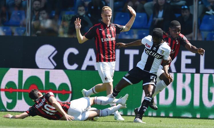 Parma-Milan, le pagelle di CM: Bruno Alves alla CR7. Male Calhanoglu e Biglia
