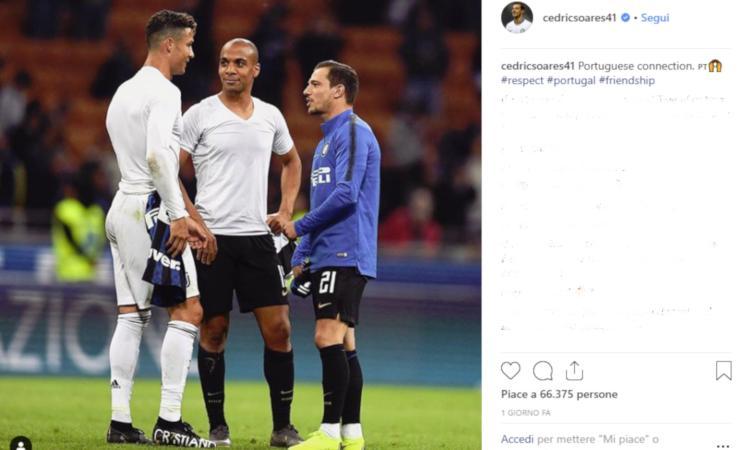 Joao Mario e Cedric Soares ai piedi di CR7: l'Inter non fa più per loro