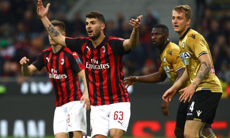 Milan, problema alla schiena per Cutrone