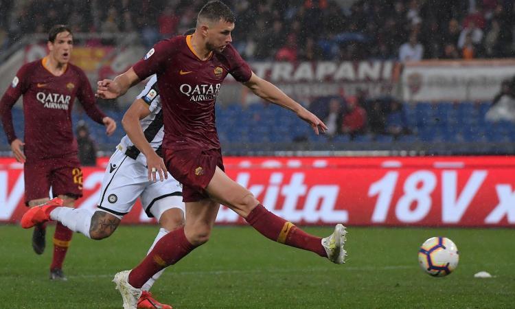 Alla Roma basta Dzeko: 1-0 all'Udinese e -1 dal Milan