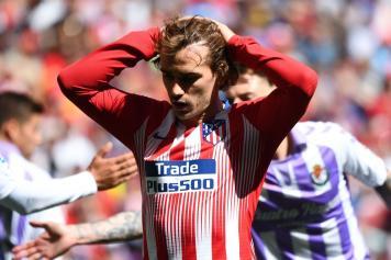 griezmann, atletico madrid, disperato, braccia, 2018/19