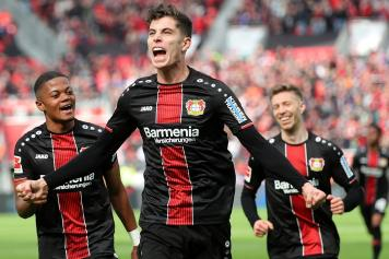havertz, bayer leverkusen, urlo, esulta, 2018/19