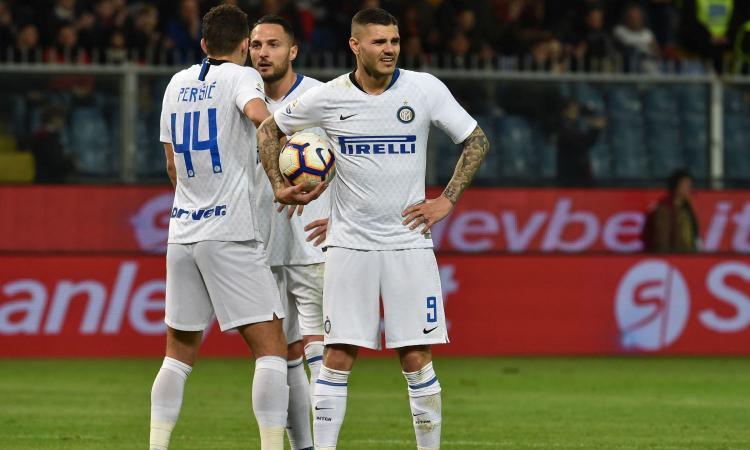 Rigore per l'Inter, Icardi lo lascia a Perisic