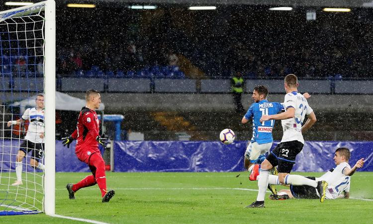 Napoli-Atalanta 1-2: il tabellino