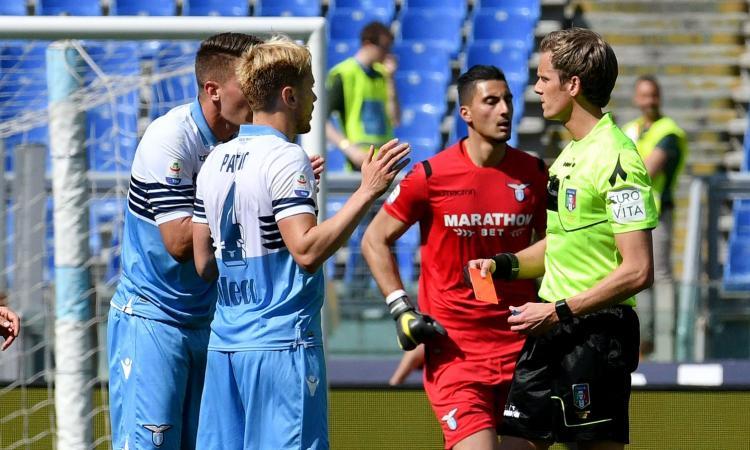 Serie A, rivivi la MOVIOLA: rosso a Milinkovic per un calcio a Stepinski! Espulso nel finale anche Luis Alberto