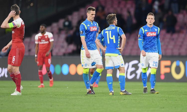 Arsenal troppo forte per questo Napoli: altra lezione di gioco dopo Juve-Ajax e l'Italia è fuori dall'Europa