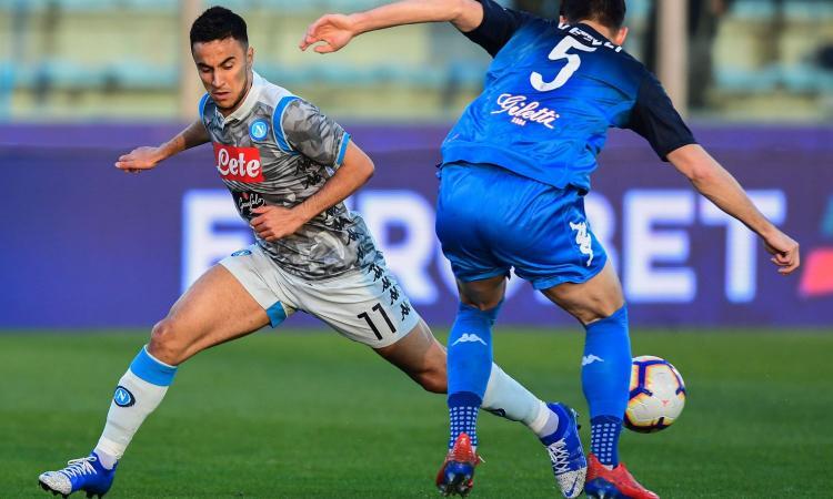 Napoli-Arsenal, non ci sarà Ounas: arriva la conferma di Ancelotti