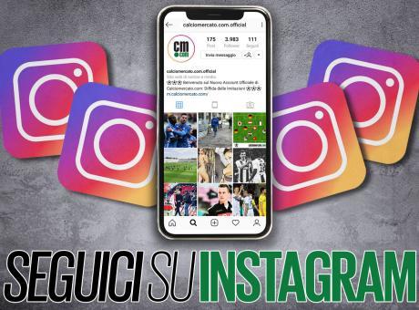 È nata la nuova pagina Instagram di Calciomercato.com. Cosa aspetti, seguici!!